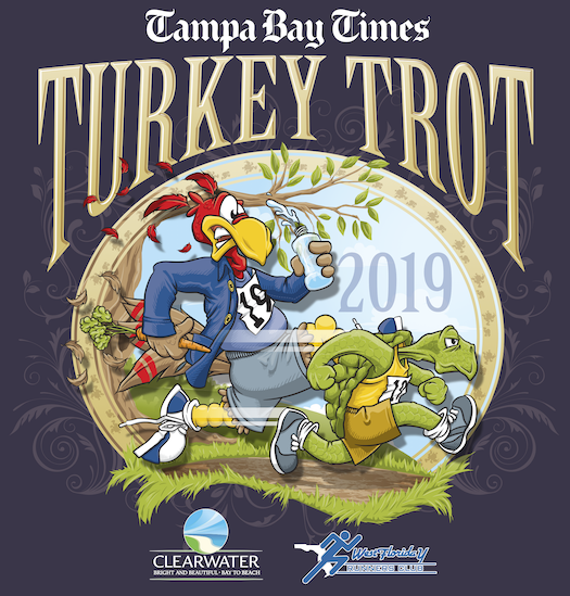 The 5th Annual Goody Goody Turkey Gobble, Tampa's Thanksgiving Day 8K, 5K & 1 Mile Walk will take place on Thurs., Nov. 28, 2019 beginning and ending in front of Amalie Arena, 401 Channelside Drive, Tampa 33602