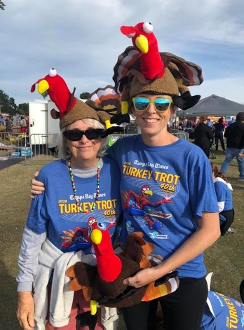 Visitors attending the Turkey Trot